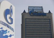 Центральный офис Газпрома в Москве. 24 февраля 2015 года. Киев начал в пятницу переводить предоплату за российский газ в канун новых российско-украинских газовых переговоров, в которых посредником выступает Еврокомиссия, переживающая за стабильность транзита топлива в Европу. REUTERS/Maxim Zmeyev