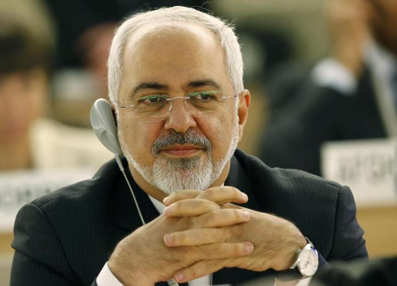 Iranian Foreign Minister Mohammad Javad Zarif attends the 28th Session of the Human Rights Council at the United Nations in Geneva March 2, 2015.  REUTERS/Denis Balibouse