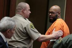 "Rap mogul Marion ""Suge"" Knight (R) appears in court with his lawyer David Kenner (L) in Los Angeles, California March 2, 2015. REUTERS/Mark Boster/Pool"
