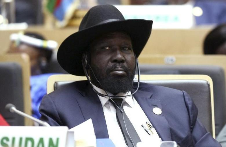 South Sudan's President Salva Kiir Mayardit attends the opening ceremony of the 24th Ordinary session of the Assembly of Heads of State and Government of the African Union (AU) at the African Union headquarters in Ethiopia's capital Addis Ababa, January 30, 2015. REUTERS/Tiksa Negeri