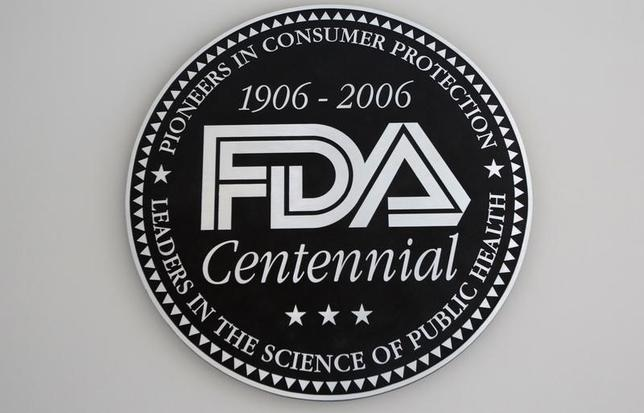 File photo of the U.S. Food and Drug Administration (FDA) logo at the lobby of its headquarters in Silver Spring, Maryland August 14, 2012. REUTERS/Jason Reed