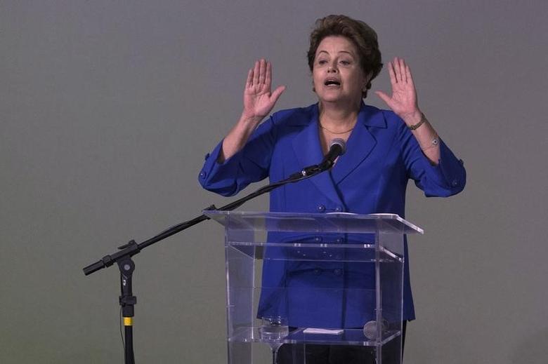 Brazil's President Dilma Rousseff speaks during a national education conference, CONAE 2014, in Brasilia November 20, 2014. REUTERS/Ueslei Marcelino