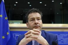 Eurogroup chairman and Dutch Finance Minister Jeroen Dijsselbloem waits to testify before the European Parliament's Economic and Monetary Affairs Committee in Brussels February 24, 2015.  REUTERS/Francois Lenoir