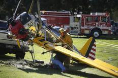 Avião de ator Harrison Ford em Los Angeles. 6/3/2015 REUTERS/Lucy Nicholson