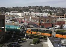 A BNSF train is pictured in Renton, Washington February 26, 2014.  REUTERS/Jason Redmond