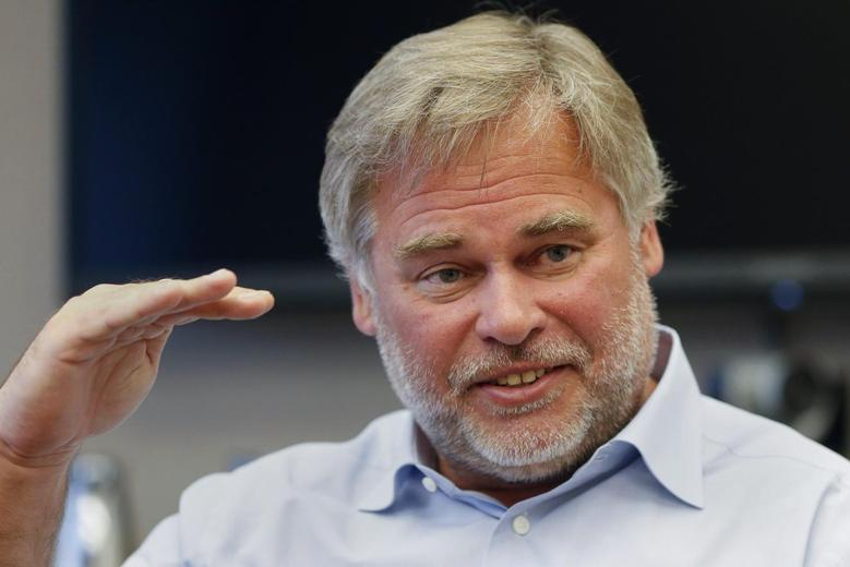 Eugene Kaspersky, chairman and CEO of Kaspersky Lab, answers a question during an interview in New York in this file photo taken March 10, 2015. REUTERS/Shannon Stapleton/Files