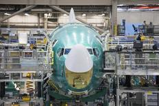 A Boeing 737 jetliner is pictured during a tour of the Boeing 737 assembly plant in Renton, Washington February 4, 2014. REUTERS/David Ryder