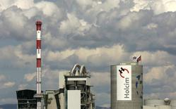 A general view shows Switzerland's Holcim cement production plant in Siggenthal, in this file photo taken August 23, 2007.   REUTERS/Christian Hartmann