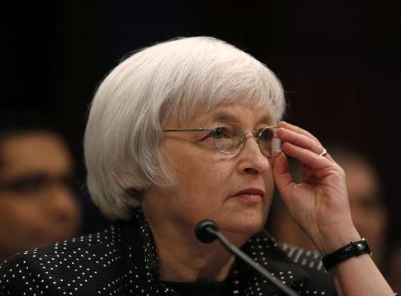 U.S. Federal Reserve Chair Janet Yellen testifies before a House Financial Services Committee hearing to receive the semi-annual report on Monetary Policy and State of the Economy, on Capitol Hill in Washington February 25, 2015. REUTERS/Jim Bourg