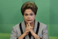 Presidente Dilma Rousseff no Palácio do Planalto.   16/03/2015    REUTERS/Ueslei Marcelino