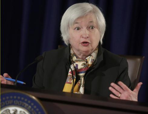 U.S. Federal Reserve Chair Janet Yellen speaks at a news conference following the two-day Federal Open Market Committee meeting in Washington March 18, 2015. REUTERS-Joshua Roberts