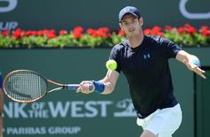 Andy Murray (GRB) during his match against Adrian Mannarino (ITA) in the BNP Paribas open at the Indian Wells Tennis Garden. Mandatory Credit: Jayne Kamin-Oncea-USA TODAY Sports