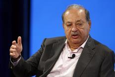 Carlos Slim, Lifetime Honorary Chairman, Telefonos de Mexico, speaks at the WSJD Live conference in Laguna Beach, California October 29, 2014.  REUTERS/Lucy Nicholson
