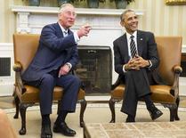 Presidente dos EUA Barack Obama em encontro com príncipe Charles na Casa Branca. 19/03/2015.      REUTERS/JOSHUA ROBERTS
