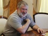 Igor Kolomoisky, billionaire and governor of the Dnipropetrovsk region, speaks during an interview in Dnipropetrovsk May 24, 2014 file photo. REUTERS/Valentyn Ogirenko/Files