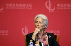 "IMF Managing Director Christine Lagarde attends the opening ceremony of China Development Forum about ""China's Economy in the New Normal"", in Beijing March 22, 2015. REUTERS/Jason Lee"