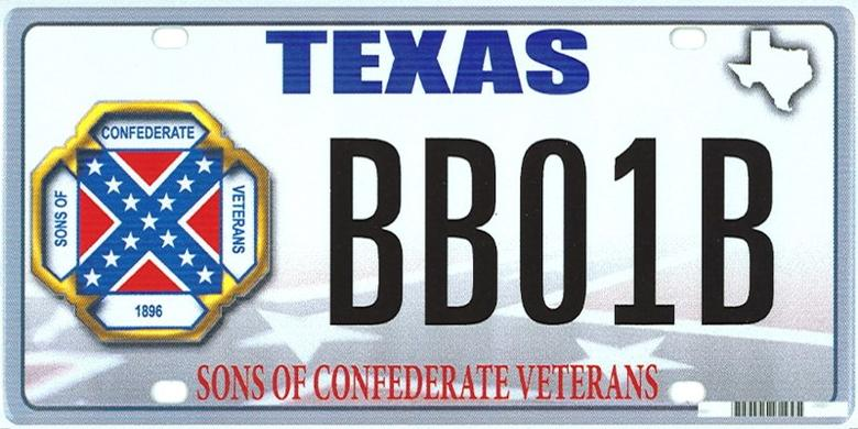 The design of a proposed ''Sons of the Confederacy'' Texas state license plate is shown in this handout illustration provided by the Texas Department of Motor Vehicles March 20, 2015.   REUTERS/Texas Department of Motor Vehicles/Handout via Reuters