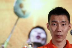 Malaysia's Lee Chong Wei looks on during a news conference in Bangkok November 21, 2014. REUTERS/Athit Perawongmetha/Files