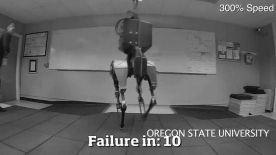 ダチョウがモデルの二足歩行型ロボット、米大学が開発