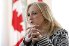 Canada's Transport Minister Lisa Raitt speaks during an interview with Reuters in Ottawa March 25, 2015. REUTERS/Chris Wattie