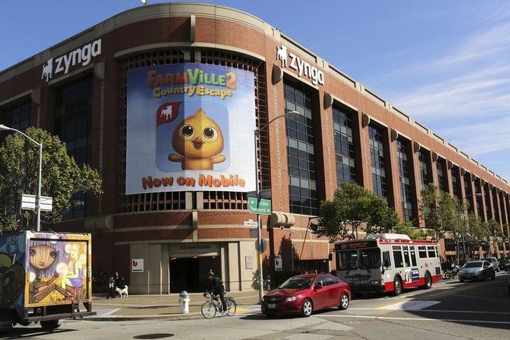 The Zynga headquarters is pictured in San Francisco, California April 23, 2014. The social games services provider is scheduled to report first quarter earnings. REUTERS/Robert Galbraith