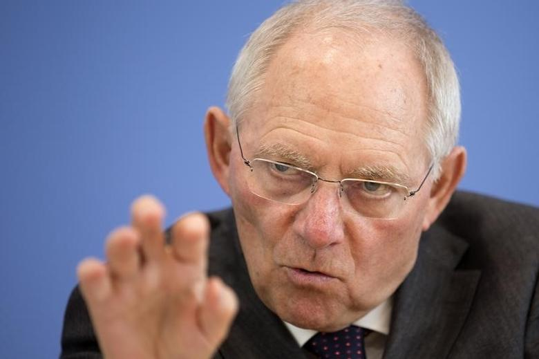 German Finance Minister Wolfgang Schaeuble attends a news conference in Berlin March 18, 2015, on Germany's budget and financial plan for 2015 to 2019. REUTERS/Axel Schmidt