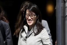 Ellen Pao leaves San Francisco Superior Court Civic Center Courthouse during a lunch break in San Francisco, California March 25, 2015. REUTERS/Stephen Lam