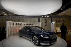 Ford Motor Co. unveils the Lincoln Continental concept car at an event ahead of the New York International Auto Show in New York March 30, 2015. REUTERS/Brendan McDermid