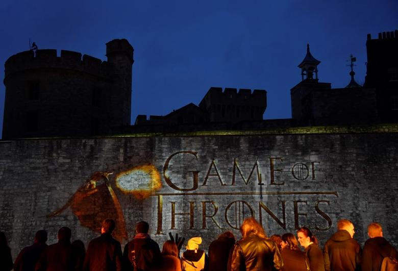 Fans wait for guests to arrive at the world premiere of the television fantasy drama ''Game of Thrones'' series 5, at The Tower of London, March 18, 2015. REUTERS/Toby Melville/Files
