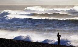 Praia em Biarritz, na costa do Atlântico no sul da França no ano passado. 06/02/2014 REUTERS/Regis Duvignau