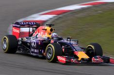 Red Bull Formula One driver Daniel Ricciardo of Australia drives during the second practice ahead of the Chinese F1 Grand Prix at the Shanghai International Circuit April 10, 2015. REUTERS/Aly Song