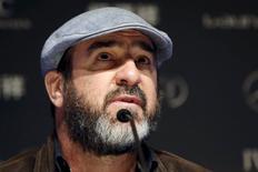 Ex-jogador francês Éric Cantona em entrevista coletiva do Prêmio Laureus, em Xangai. REUTERS/Aly Song