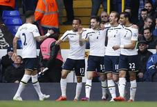 Tottenham's Harry Kane celebrates scoring their second goal. Action Images via Reuters / Andrew Couldridge