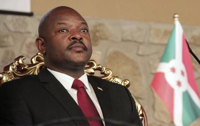 Burundi's President Pierre Nkurunziza attends the opening of a coffee conference in the capital Bujumbura February 13, 2014. REUTERS/Jean Pierre Aime Harerimana