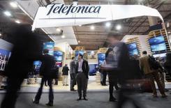 Logo da Telefónica visto em evento em Barcelona.  05/03/2015   REUTERS/Albert Gea