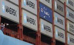 Tripulação de um navio cargueiro da Maersk, em foto de arquivo.  37/07/2013  REUTERS/Edgar Su