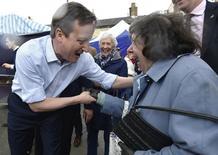 Premiê britânico, David Cameron, em Wetherby, no norte da Inglaterra. 30/04/2015 REUTERS/Toby Melville