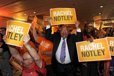 NDP supporters cheer as election results come in during festivities at the election headquarters in Edmonton May 5, 2015.   REUTERS/Dan Riedlhuber