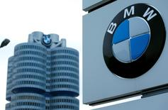 BMW a annoncé mercredi un bénéfice d'exploitation en hausse de 20,6% au premier trimestre, soit plus que prévu, grâce à une forte demande de 4x4 de luxe en Europe et aux Etats-Unis et à une poursuite de la croissance, quoique ralentie, en Chine. /Photo prise le 17 mars 2015/REUTERS/Michaela Rehle