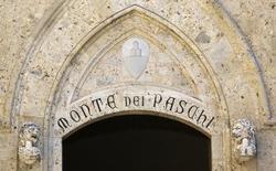 Banca Monte dei Paschi di Siena, qui se présente comme la plus vieille banque du monde, devrait dégager cette année un bénéfice net pour la première fois depuis 2011, a déclaré lundi le directeur financier de l'établissement toscan. /Photo pris ele 16 août 2014/REUTERS/Stefano Rellandini