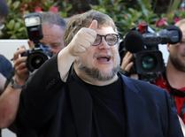 Jury member film director Guillermo del Toro arrives at the Grand Hyatt Cannes Hotel Martinez on the eve of the opening of the 68th Cannes Film Festival in Cannes, southern France, May 12, 2015.  REUTERS/Benoit Tessier