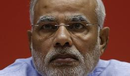 Indian Prime Minister Narendra Modi attends the launch of the Jan Dhan Yojana, or the Scheme for People's Wealth, in New Delhi August 28, 2014.  REUTERS/Adnan Abidi