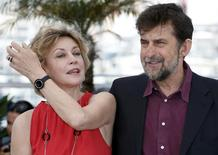"Director Nanni Moretti (R) and cast member Margherita Buy pose during a photocall for the film ""Mia madre"" (My Mother) in competition at the 68th Cannes Film Festival in Cannes, southern France, May 16, 2015.       REUTERS/Eric Gaillard"