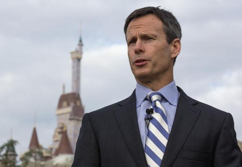 Tom Staggs, Chairman of Walt Disney World Parks & Resorts speaks during a ribbon-cutting ceremony for the New Fantasyland in Lake Buena Vista, Florida December 6, 2012. REUTERS/Scott Audette