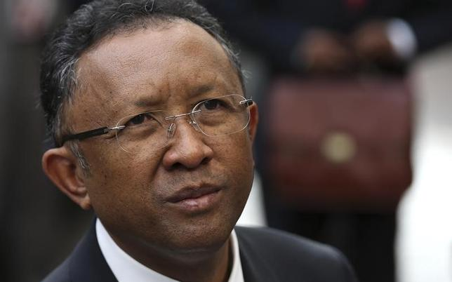 File photo of Madagascar's President Hery Rajaonarimampianina arrives at an European Union-Africa summit in Brussels April 2, 2014. REUTERS/Francois Lenoir