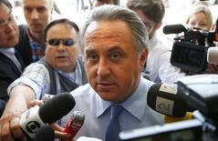 Ministro dos Esportes da Rússia, Vitaly Mutko, chegando para reunião da Uefa em Zurique.  28/05/2015    REUTERS/Ruben Sprich