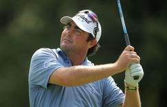 Steven Bowditch tees off on the fifth hole during the first round of The Barclays golf tournament at Ridgewood Country Club in this file photo taken on August 21, 2014 . Mandatory Credit: John Munson/THE STAR-LEDGER via USA TODAY Sports