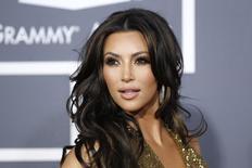 Kim Kardashian durante evento em Los Angeles.  13/02/2011   REUTERS/Danny Moloshok