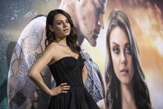 "Cast member Mila Kunis poses at the premiere of ""Jupiter Ascending"" at the TCL Chinese theatre in Hollywood, California February 2, 2015. The movie opens in the U.S. on February 6. Picture taken February 2.  REUTERS/Mario Anzuoni  (UNITED STATES - Tags: ENTERTAINMENT) - RTR4O4OK"