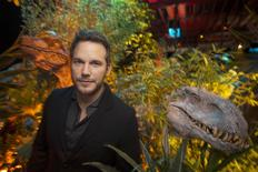 "Actor Chris Pratt, who plays raptor trainer Owen in ""Jurassic World"", poses at Universal Studios in Los Angeles, California, June 6, 2015. REUTERS/David McNew"